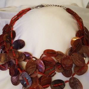 Jewelry - A unique flat bead and tiny bead necklace
